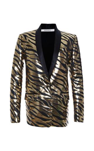 Medium rodarte black black and gold metallic zebra jacket