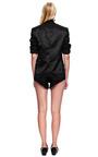 Black Hammered Silk Jacket by RODARTE for Preorder on Moda Operandi