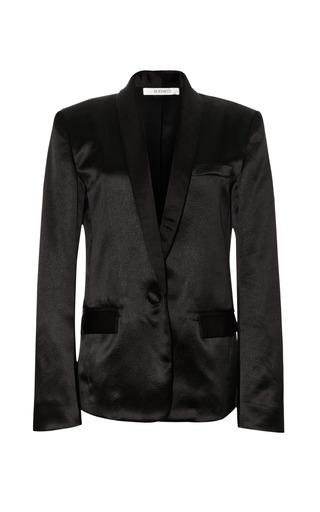 Medium rodarte black black hammered silk jacket