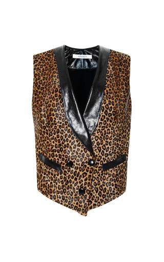 Medium rodarte black leopard haircalf vest