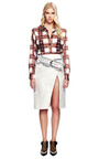 Printed Plaid Button Front Shirt by RODARTE for Preorder on Moda Operandi