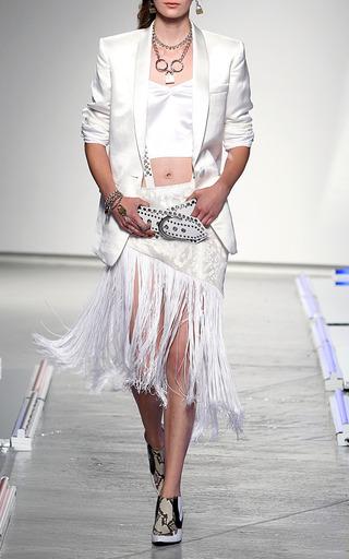 White Silk Linen Jacket by RODARTE for Preorder on Moda Operandi