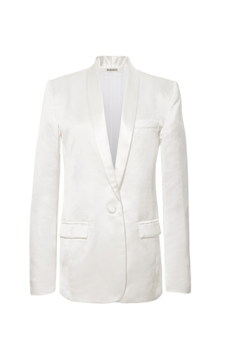 Medium rodarte white white silk linen jacket