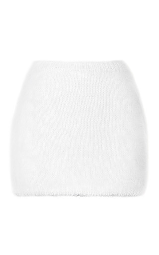 Medium rodarte white white angora mini skirt