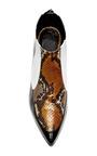 White And Orange Embossed Snakeskin Bootie by RODARTE for Preorder on Moda Operandi