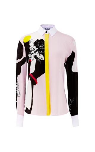 Medium prabal gurung print abstract rose print crepe de chine blouse