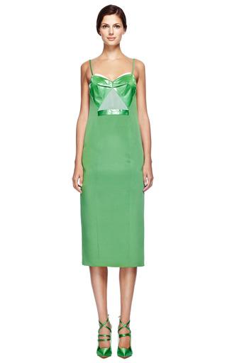 Crepe Sheath Dress With Technical Satin Bodice by PRABAL GURUNG for Preorder on Moda Operandi