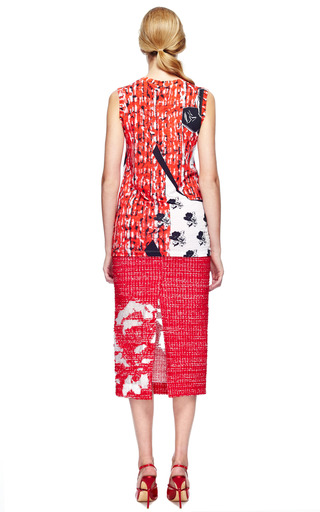 Rose Tweed Pencil Skirt by PRABAL GURUNG for Preorder on Moda Operandi