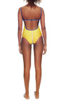 Bossa Nova Color Blocked Swimsuit by AGUA DE COCO Now Available on Moda Operandi