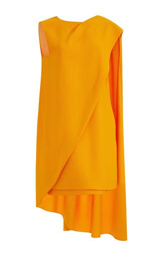 Medium narciso rodriguez orange orange super cady crepe dress