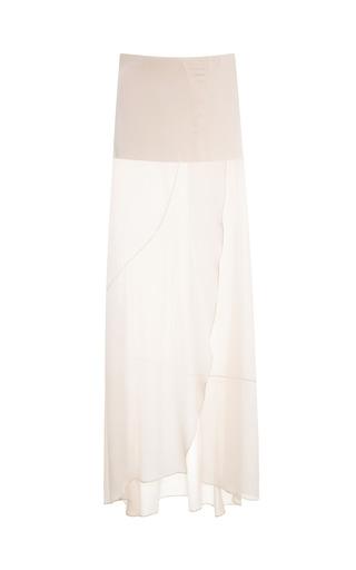 Medium narciso rodriguez pink blush chiffon satin skirt
