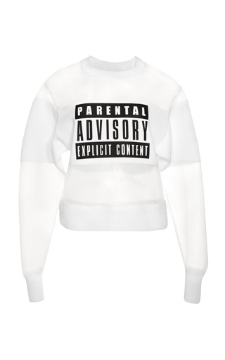 Medium alexander wang white parental advisory sweatshirt