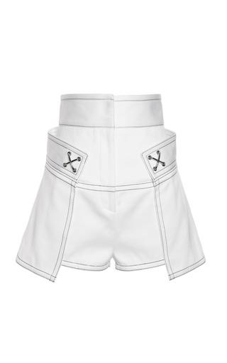 Medium alexander wang white high waisted short with contrast topstitching