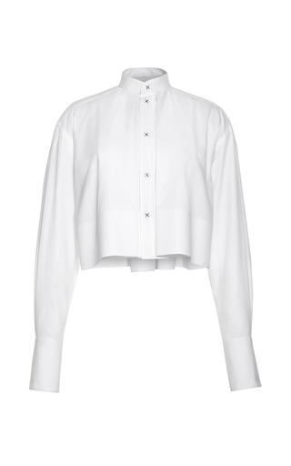 Medium alexander wang white cropped mens shirt with mini x rivets