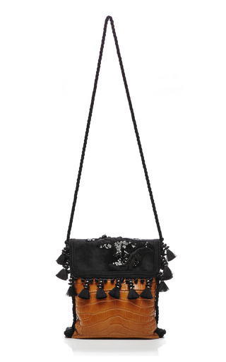 Tobacco Alligator Mix And Match Surfer Bag by MARC JACOBS for Preorder on Moda Operandi
