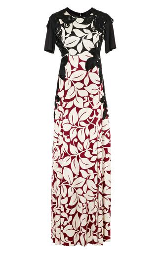 Medium marc jacobs ivory burgundy breadfruit silk jersey long t shirt dress