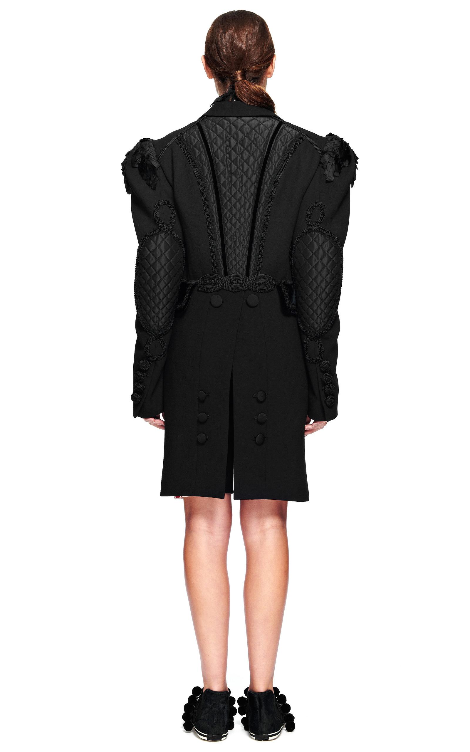 Black Lightweight Wool Coat With Tails And | Moda Operandi