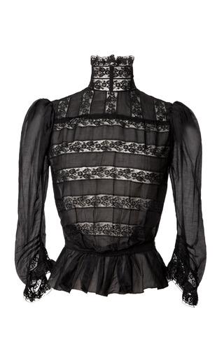 Medium marc jacobs black black cotton voile victorian blouse