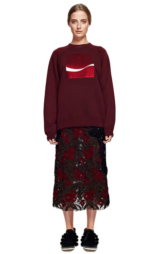 Lily Guipure Fan And Feather Sequin Skirt by MARC JACOBS for Preorder on Moda Operandi