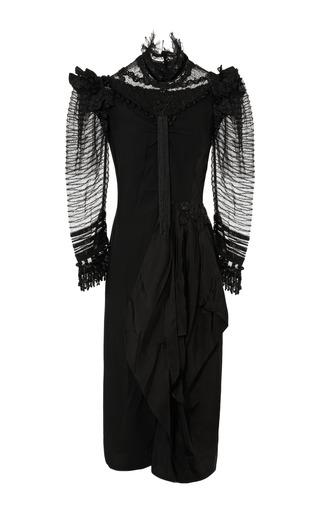 Medium marc jacobs black black satin back crepe victorian dress