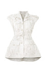 Sleeveless Military Pintuck Jacket by THOM BROWNE for Preorder on Moda Operandi