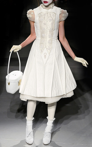 Pintuck Flare Dress by THOM BROWNE for Preorder on Moda Operandi