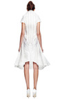Flared Front Shoulder Fin Dress by THOM BROWNE for Preorder on Moda Operandi
