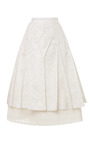 A Line Pintuck Long Skirt by THOM BROWNE for Preorder on Moda Operandi