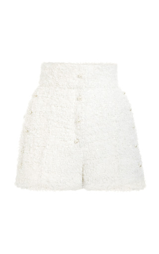 Medium thom browne white button side military pintucked short