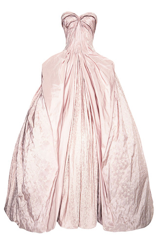 Medium zac posen pink iris taffeta gown