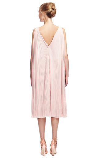 Plisse Chiffon Dress by ZAC POSEN for Preorder on Moda Operandi
