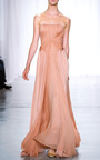 Plisse Chiffon Gown by ZAC POSEN for Preorder on Moda Operandi