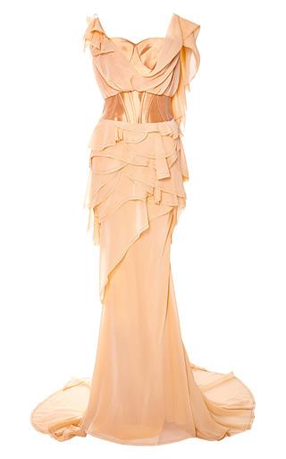 Medium zac posen pink mikado gown