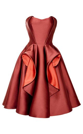 Medium zac posen pink stretch duchess dress
