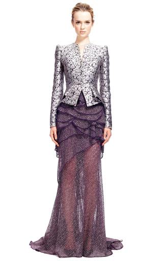 Camelia Jacquard Jacket by ZAC POSEN for Preorder on Moda Operandi