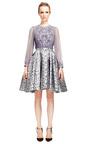 Camelia Jacquard Skirt by ZAC POSEN for Preorder on Moda Operandi