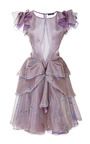 Wisteria Print Organza Dress by ZAC POSEN for Preorder on Moda Operandi