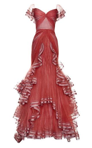 Medium zac posen pink tulle gown