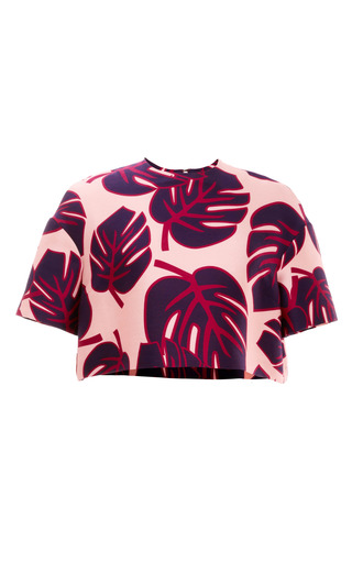 Palm Print Yukon Cropped Tee by MOTHER OF PEARL for Preorder on Moda Operandi