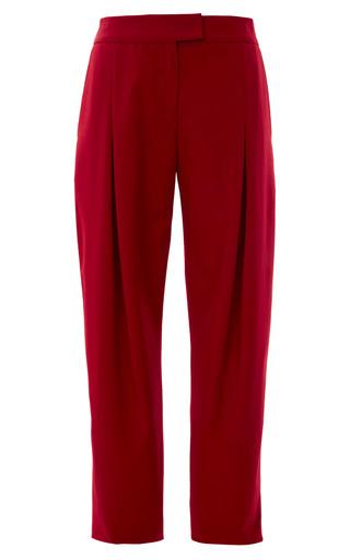 Medium mother of pearl burgundy burgundy mersey gabardine trousers