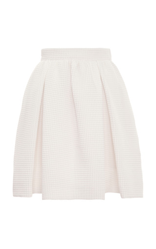 Medium mother of pearl ivory cooper cotton waffle skirt