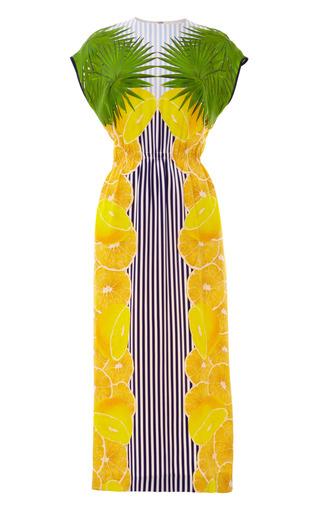 Medium mother of pearl stripe kara lemon stripe long t shirt dress