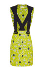Wood Printed Neoprene Cross Strap Mini Dress by OPENING CEREMONY for Preorder on Moda Operandi