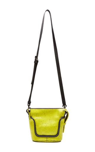 Medium opening ceremony yellow tetra crackle calf oly handbag