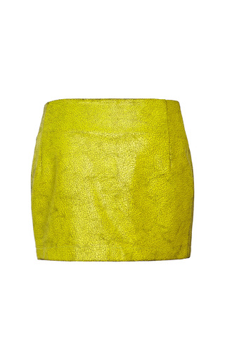 Crackle Leather Snap Mini Skirt by OPENING CEREMONY for Preorder on Moda Operandi