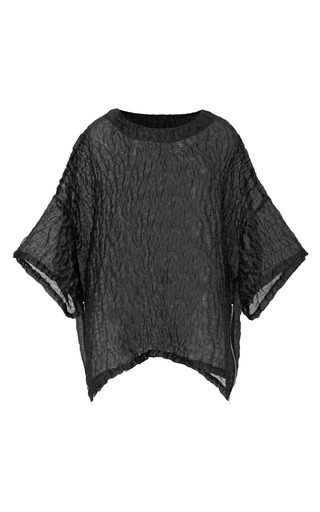 Medium opening ceremony black sand organza side zip t shirt