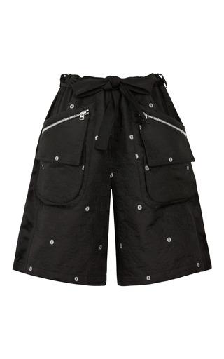 Medium opening ceremony black daisy pojagi jacquard cargo shorts