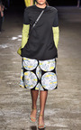 Moon Print Bermuda Short In White Multi by OPENING CEREMONY for Preorder on Moda Operandi