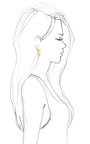 Large Scaled Triangle Earring by EDDIE BORGO for Preorder on Moda Operandi