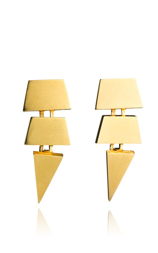 Medium eddie borgo gold large scaled triangle earring